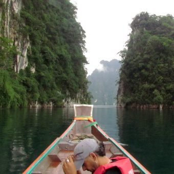 Khao Sok Lake Tour 2 Days 1 Night Cheow Lan Lake limestone
