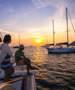 phuket catamaran boat sunset