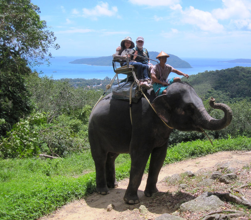 Seaview during an elephant trekking in Phuket