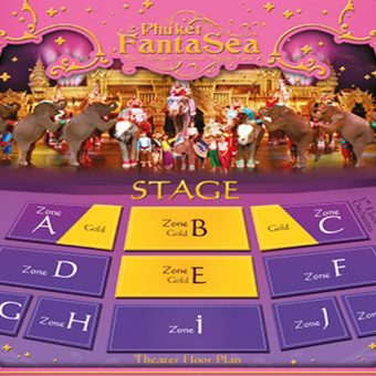 Phuket FantaSea Show Only Gold Seats Transfer Gold Seats